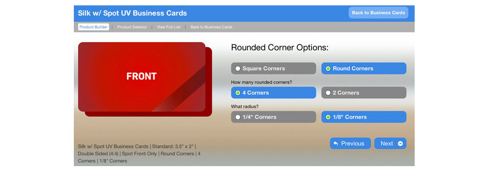 Build your very own custom business card with our new business card builder.