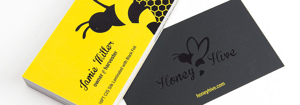 Yellow Business Cards Printed by Primo Print.