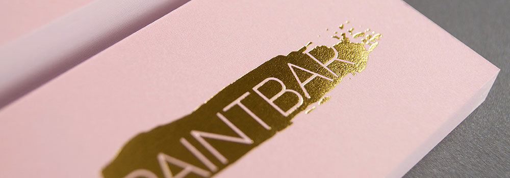 Enhance the look of your business card by including stamped foil. Select from Gold, Silver, Black, Green, Blue, Red, Pink and Copper.