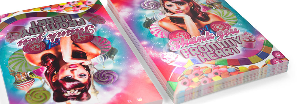 Inline Foil Postcard Sample by Primo Print