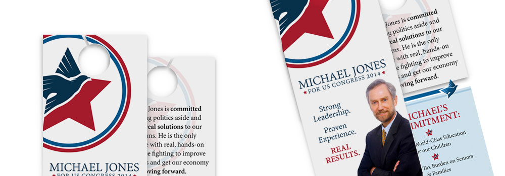 Political Door Hanger Printing by Primo Print