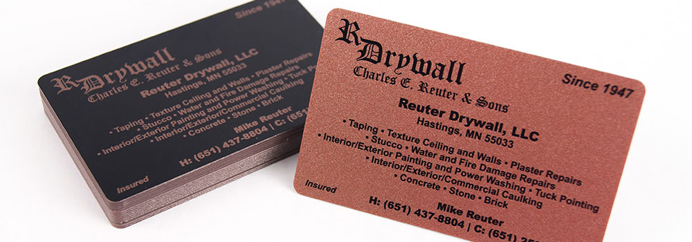 Metallic Plastic Business Card by Primo Print